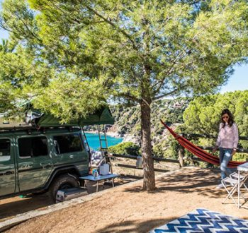 Camping Car camping sea green