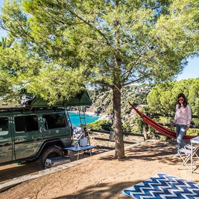 Camping Car camping sea green