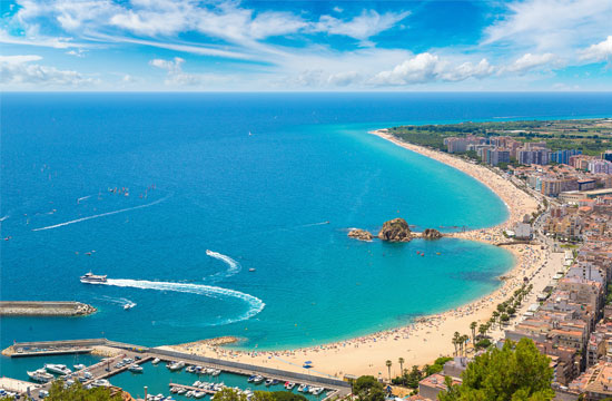 plage camping blanes